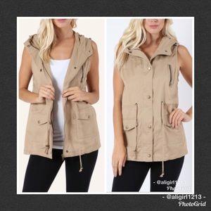 Jackets & Blazers - 1 LEFT  - Khaki Utility Vest